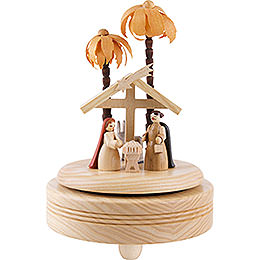 Spieldose Christi Geburt  -  hell  -  18cm