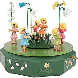 Spieldose mit Blumenwiese  -  21x18cm