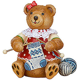 Teddy mini  -  Knitting Dolly  -  7cm / 2.8 inch