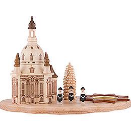 Teelichthalter mit Dresdner Frauenkirche und Kurrende  -  14,5cm