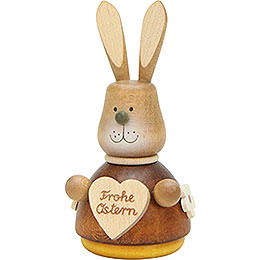 Teeter Bunny with Heart Natural  -  9,8cm / 3.9 inch