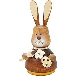 Teeter Bunny with Paint - Brush Natural  -  9,8cm / 3.9 inch