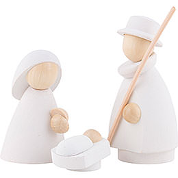 The Holy Family  -  Modern White/Natural  -  8,5cm / 3.3 inch