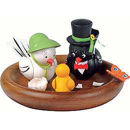 Theme Platform for Electr. Music Box  -  'Hi Mum!, Hi Pa!' Bird Wedding  -  Rolf Zuckowski Edition  -  13cm / 5 inch