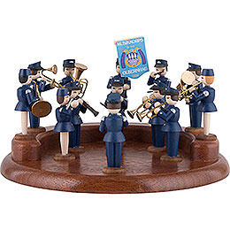 Theme Platform for Electr. Music Box  -  Music Corps of Olbernhau  -  13cm / 5.1 inch