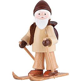 Thiel - Figur Ruprecht auf Ski  -  natur  -  6cm