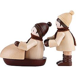 Thiel - Figuren Bobfahrer  -  natur  -  2 - teilig  -  5cm