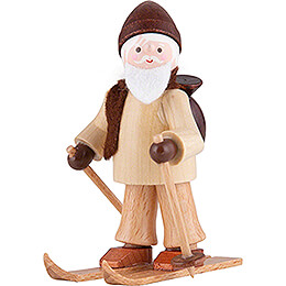 Thiel Figurine  -  Rupert on Ski  -  natural  -  6cm / 2.4 inch