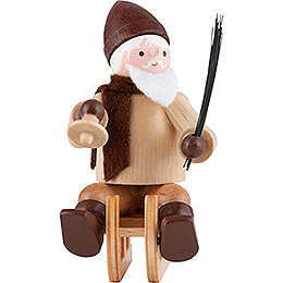 Thiel Figurine  -  Santa Claus on Sledge  -  natural  -  6cm / 2.4 inch