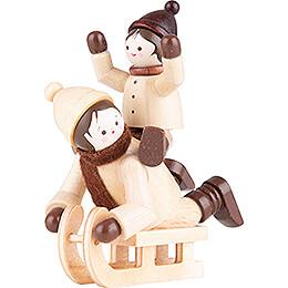 Thiel Figurine  -  Sledge Ride  -  natural  -  7cm / 2.8 inch