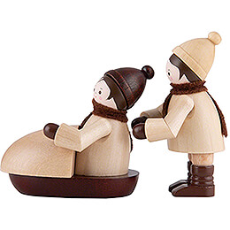 Thiel Figurines  -  Bobber  -  natural  -  Set of Two  -  5cm / 2 inch