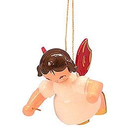 Tree Ornament  -  Angel Conductor  -  Red Wings  -  Floating  -  5,5cm / 2,1 inch