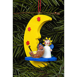 Tree Ornament  -  Angel in Moon  -  4,5x6,3cm / 2x2 inch