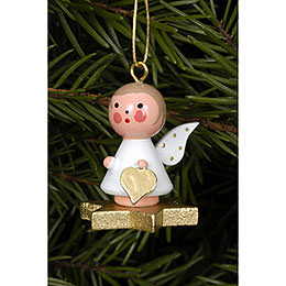 Tree Ornament  -  Angel on Star  -  2,9x3,0cm / 1x1 inch
