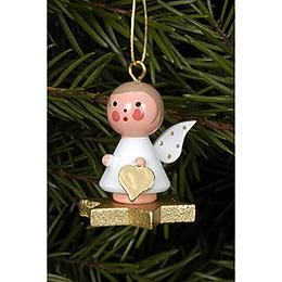 Tree Ornament  -  Angel on Star  -  2,9x3,0cm / 1x1 inch