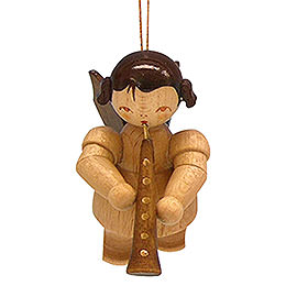 Tree Ornament  -  Angel with Oboe  -  Natural Colors  -  Floating  -  5,5cm / 2,1 inch