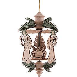 Tree Ornament  -  Angel with Santa  -  13cm / 5.1 inch
