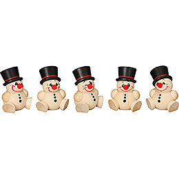Tree Ornament  -  Cool Man  -  5 pcs.  -  4cm / 2 inch