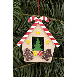 Tree Ornament  -  Ginger Bread House with Candy  -  6,5x7,0cm / 2.6x7.8 inch