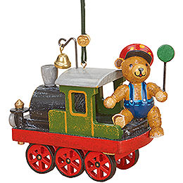 Tree Ornament  -  Loco with Teddy  -  5cm / 2 inch
