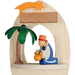 Tree Ornament  -  Nativity with Melchior, Natural  -  8,5cm / 3.3 inch