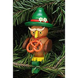 Tree Ornament  -  Owl Bavarian on Clip  -  4,8x7,3cm /1.9x2.9 inch