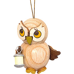 Tree Ornament  -  Owl Child with Lampion  -  4cm / 1.6 inch