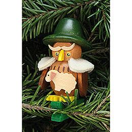 Tree Ornament  -  Owl Shepherd on Clip  -  5,3x7,0cm / 2.1x2.8 inch