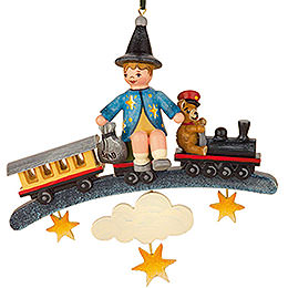 Tree Ornament  -  Sandman Teddy Train  -  9cm / 3,5 inch