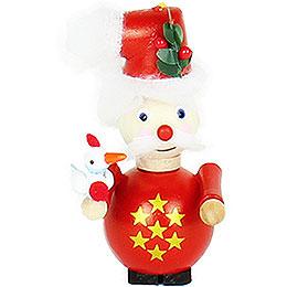 Tree Ornament  -  Santa  -  Three French Hens  -  9cm / 3.5 inch