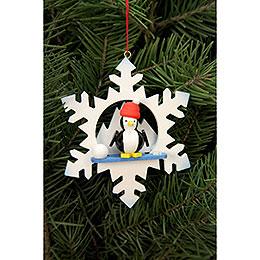 Tree Ornament  -  Snowflake Penguin  -  9,0x9,0cm / 3.5x3.5 inch
