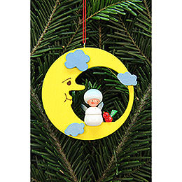 Tree Ornament  -  Snowflake in Moon  -  7,9x7,9cm / 3x3 inch