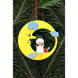 Tree Ornament  -  Snowflake in Moon  -  7,9x7,9cm / 3x3 inch