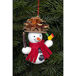 Tree Ornament  -  Snowman Coneman  -  7,0x9,0cm / 2x3 inch
