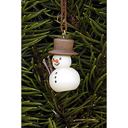 Tree Ornament  -  Snowman Natural  -  3,0x2,0cm / 1.2x0.8 inch