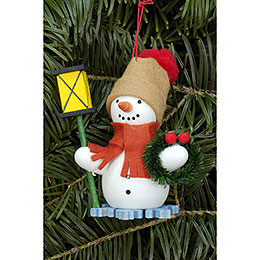Tree Ornament  -  Snowman with Lantern  -  6,3x8,0cm / 2.5x3.1 inch