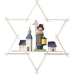 Tree Ornament  -  Star with Nightwatchman  -  9,5cm / 3.7 inch