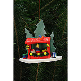 Tree Ornament  -  Strizelmarkt Booth  -  9,2x8,7cm / 4x3 inch