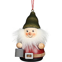 Tree Ornament Teeter Man Dwarf with Bucket  -  8cm / 3.1 inch