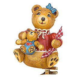 Tree Ornament  -  Tree Clip Anni's Teddy Bear  -  8cm / 3.1 inch
