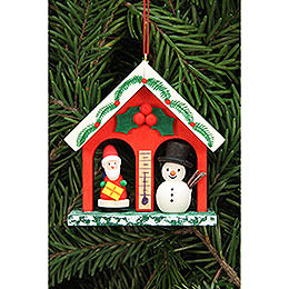 Tree Ornament  -  Weather House  -  6,8x6,9cm / 2.7x2.7 inch