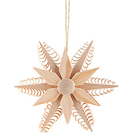 Tree Ornament  -  Wood Chip Star  -  11,5cm / 4.5 inch