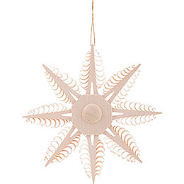 Tree Ornament  -  Wood Chip Star  -  12,5cm / 4.9 inch