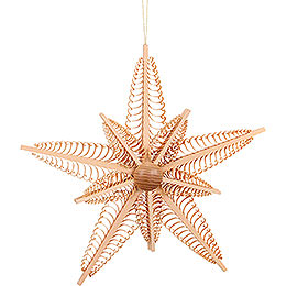 Tree Ornament  -  Wood Chip Star  -  37cm / 14.6 inch