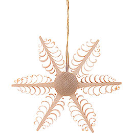 Tree Ornament  -  Wood Chip Star  -  6,5cm / 2.6 inch