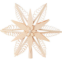 Tree Topper  -  Wood Chip Star  -  32cm / 12.6 inch