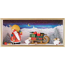 "Wall Picture ""Christmas Land""  -  22x36x5cm / 8.7x14.2x2 inch"