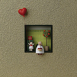 "Wall Picture ""Congratulations""  -  18x18x5cm / 7x7x2 inch"