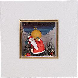 "Wall Picture ""Santa Claus""  -  22x22x5cm / 8.7x8.7x2 inch"
