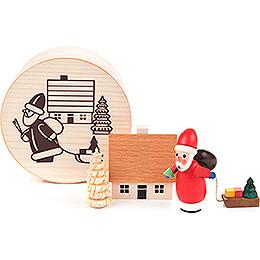 Weihnachtsmann in Spandose  -  4cm